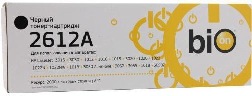 Картридж Bion Q2612A для HP LaserJet P2010 1010 1012 1015 3015 3020 3030 1319 3050 3052 3055 2000стр Черный