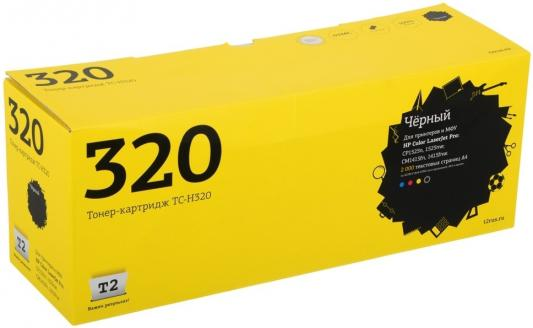 Картридж T2 CE320A для HP LaserJet Pro CP1525n CP1525nw CM1415fn 1415fnw черный с чипом 2000стр TC-H320 for hp 1415 cm1415 cm1415fn 1415fn cm1415mfp 1415mfp original used formatter board ce790 60001 laserjet printer parts on sale
