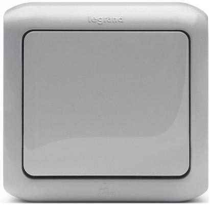 Одноклавишный переключатель Quteo 10A серый 782334