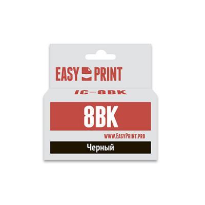 Картридж EasyPrint IC-CLI8B для Canon PIXMA iP4200 5200 Pro9000 MP500 600 черный набор картриджей canon cli 8c m y из 3х цветов для pixma mp800 mp500 ip6600d ip5200 ip5200r ip4200 ix5000 700 страниц