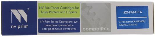 Картридж NV-Print KX-FAT411A для Panasonic KX-FA(T)411A картридж nv print kx fat88a для panasonic kx fl403ru 413ru c413ru черный 2000стр