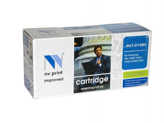 Картридж NV-Print MLT-D108S для Samsung ML-1640 1641 2240 2241 черный 1500стр nv print ml4550b тонер картридж для samsung ml 4050n 4550 4551n 4551nd