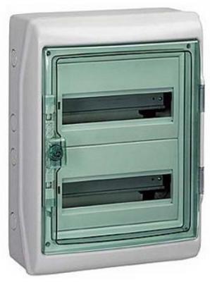 Бокс Schneider Electric Kaedra 2 ряда 24 модуля 13983  щиток навесной для 8 модулей пластиковый ip65 schneider electric kaedra