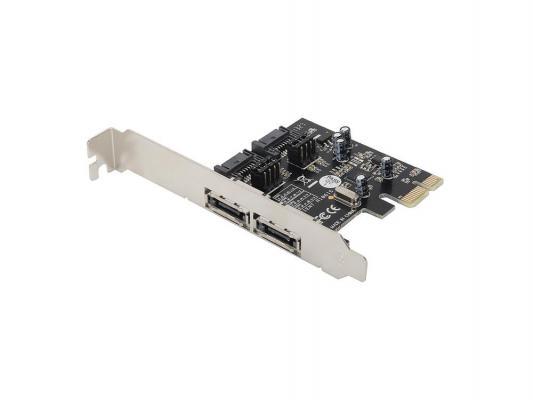 Контроллер PCI-E Orient A1061S SATA 3.0 2ext 2int 29763 OEM контроллер pci e orient a1061s m2 sata 3 0 2int 30289