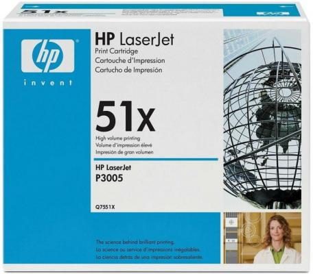 Картридж EasyPrint Q7551X для HP LaserJet M3027 LaserJet M3035 LaserJet P3005 13000стр Черный