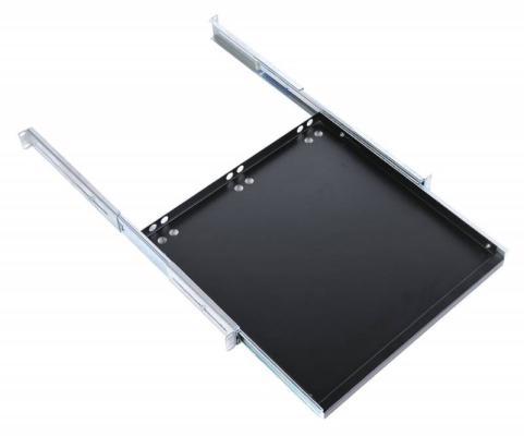 """Полка клавиатурная ЦМО 19"""" с телескопическими направляющими глубина 580-750мм черный ТСВ-К4-9005"""