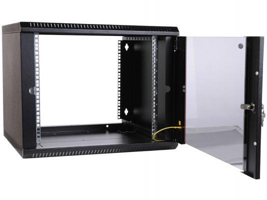 Шкаф ЦМО телекоммуникационный настенный разборный 6U (600х650) дверь стекло ШРН-Э-6.650-9005