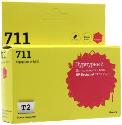 Картридж T2 CZ131A N711 для HP Designjet T120 T520 пурпурный