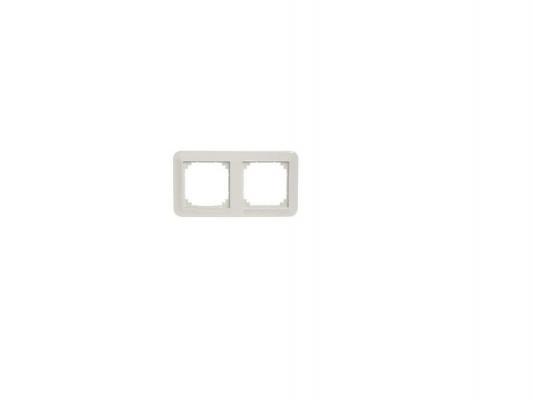 Рамка Schneider Electric 2 поста белый MTN4020-1219