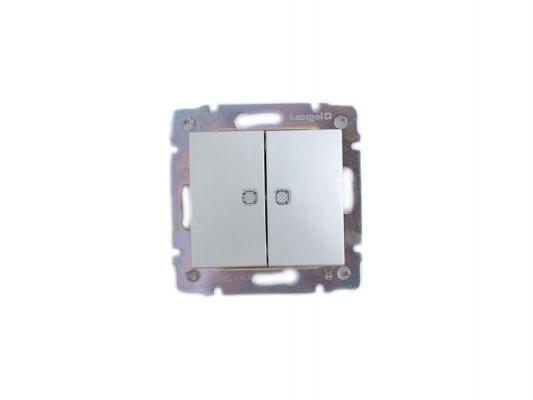 Выключатель Legrand Valena 2-клавишный алюминий 770128