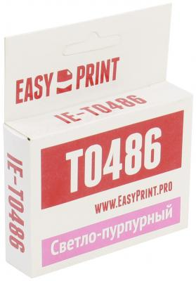 Картридж EasyPrint C13T0486 для Epson Stylus R200/R300/RX500/RX600 светло-пурпурный с чипом 430стр IE-T0486