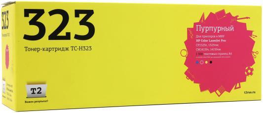 Картридж T2 CE323A для HP LaserJet Pro CP1525n/CP1525nw/CM1415fn/1415fnw пурпурный 1300стр nv print ce321ac cyan тонер картридж для hp color laserjet pro cp1525n cp1525nw