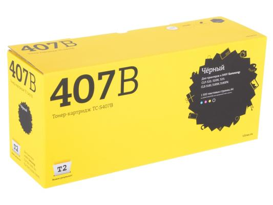 Картридж T2 CLT-K407B для Samsung CLP-320/325/CLX-3185 черный 1500стр