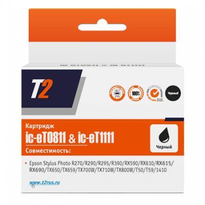Картридж T2 C13T08114A для Epson Stylus Photo R270/R290/R390/RX690/TX700 черный IC-ET0811 зимняя резина r 13