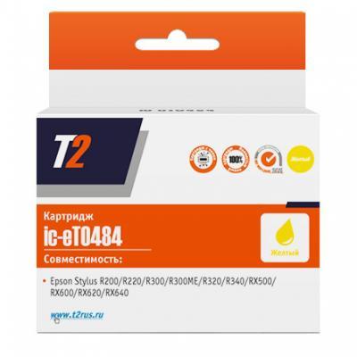 Картридж T2 C13T048440 для Epson Stylus Photo R200/R300/RX500/RX600 желтый IC-ET0484
