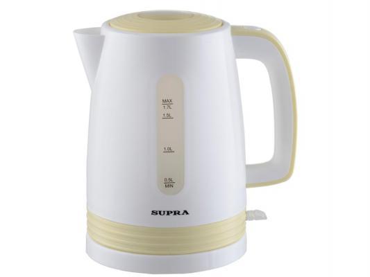 Чайник Supra KES-1723 2000 Вт 1.7 л пластик белый жёлтый supra kes 1723 white grey