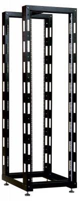 Стойка телекоммуникационная универсальная двухрамная 24U ЦМО СТК-24.2-9005 черный