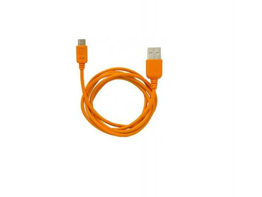 Кабель USB 2.0 AM-microB 1.0м 5pin Konoos оранжевый KC-mUSB2no