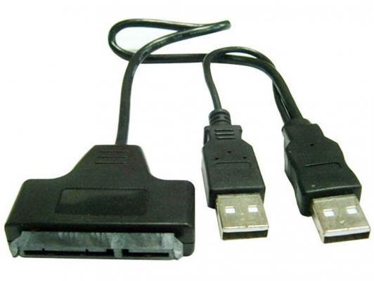 "Адаптер-переходник Gembird USB 2.0 - SATA 7+15 pin для 2.5"" HDD"
