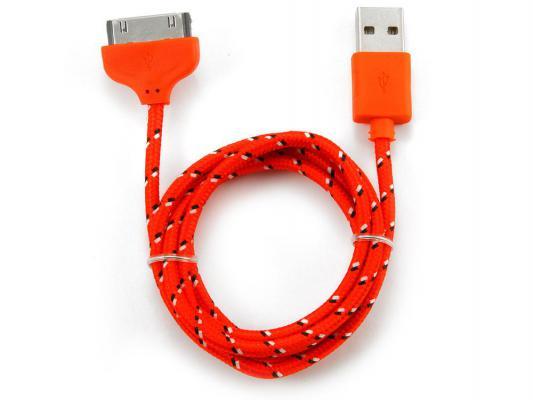 Кабель Konoos USB 1м для iPhone iPod iPad 30pin красный KC-A1USB2nr