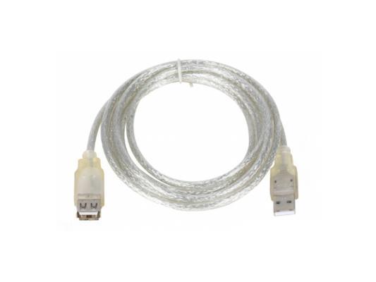 Кабель удлинительный USB 2.0 AM-AF 1.8м VCOM Telecom прозрачная изоляция VUS6936-1.8MTP