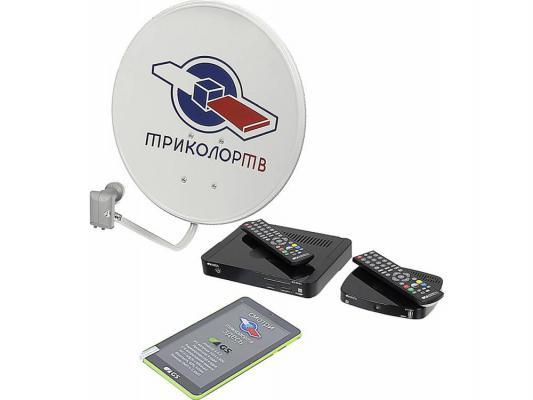 Комплект спутникового телевидения Триколор GS E501 + GS C591 Европа на 2 ТВ + планшет черный 046/91/00043970