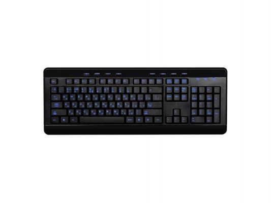 Клавиатура Gembird KBL-007 черный USB синяя подсветка символов