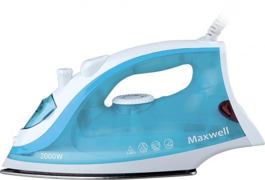 Утюг Maxwell MW-3046-В 2400Вт белый голубой