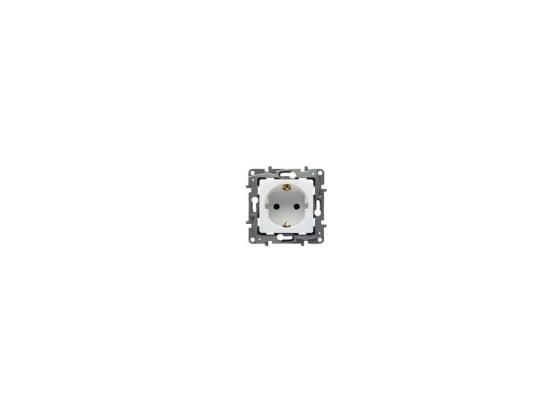Розетка Legrand Etika 2К+З белый 672221 механизм розетки legrand etika белый с заземлением 672221