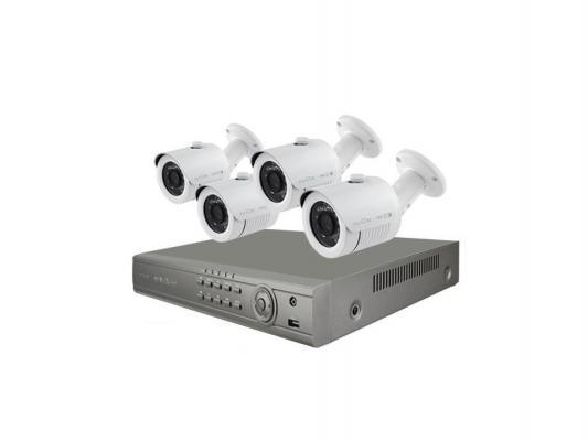 Комплект видеонаблюдения IVUE 960Н PRO 8 + 4 Дача ПЛЮС 4 уличные камеры 8-ми канальный видеорегистратор установочный комплект 5108-CK20-1099ICR