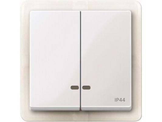 Выключатель Schneider Electric 2-клавишный белый MTN3424-0319