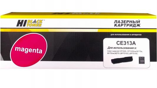 Картридж Hi-Black CE313A для HP CLJ CP1025/CP1025nw/Canon LBP-7010C/7018C M 1 K с чипом картридж profiline pl ce313a magenta для hp clj cp1025 cp1025nw canon lbp7010c lbp7018ci 1000стр