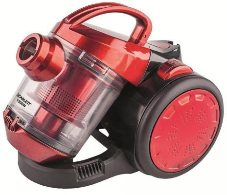 Пылесос Scarlett SC-VC80C01 без мешка сухая уборка 1500Вт красный радиатор масляный scarlett sc 41 1507 1500вт 7секц
