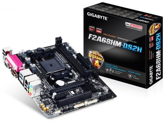 Материнская плата для ПК GigaByte F2A68HM-DS2 Socket FM2+ AMD A68H 2xDDR3 1xPCI-E 16x 1xPCI-E 1x 4xSATAIII mATX Retail