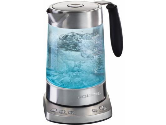 Чайник Polaris PWK 1792 CGL 2000Вт 1.7л металл/стекло серебристый polaris чайник pwk 1544cwr 1 5л 2000вт