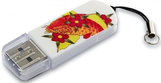 Флешка USB 8Gb Verbatim Store n Go Mini Tattoo Edition Koi 49882 USB2.0 белый usb flash накопитель verbatim store n go mini tattoo koi
