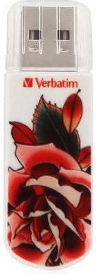 Флешка USB 8Gb Verbatim Store n Go Mini Tattoo Edition Rose 49881 USB2.0 белый verbatim store n go tattoo dragon 49888 16гб