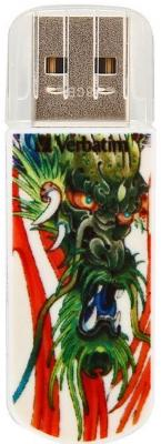 Флешка USB 8Gb Verbatim Store n Go Mini Tattoo Edition Dragon 49884 USB2.0 белый usb flash накопитель verbatim store n go mini tattoo koi