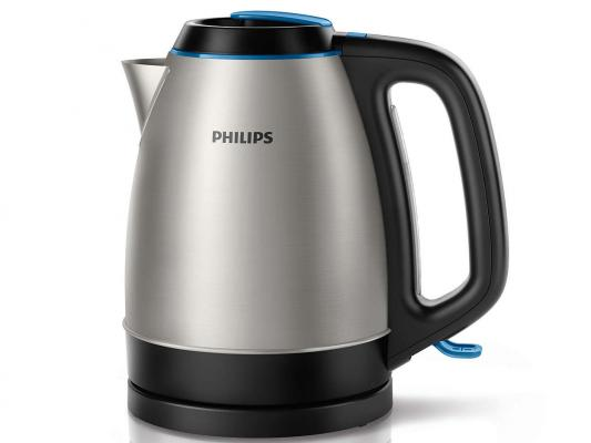 Чайник Philips HD HD9302/21 2200 Вт серебристый чёрный 1.5 л металл чайник электрический philips hd9302 2400вт серебристый и черный