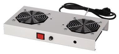 Вентиляторный модуль Estap M44HV2FG 2 вентилятора выключатель для шкафов Universal Line серый