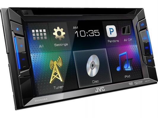 "Автомагнитола JVC KW-V11EE 6.2"" USB MP3 CD DVD FM 2DIN 4x50Вт черный"