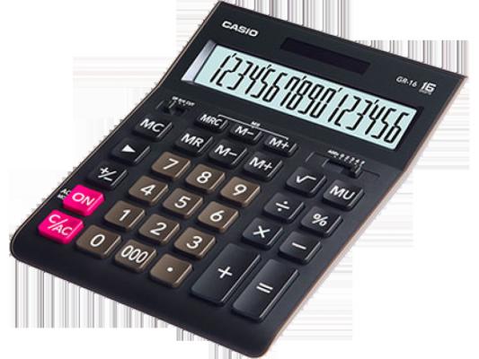 Калькулятор Casio GR-16 16-разрядный черный калькулятор casio dh 16 16 разрядный коричневый