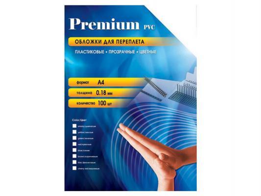 Обложки Office Kit PYA400180 А4 0.18мм прозрачный желтый 100шт