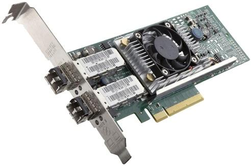 Адаптер Dell Broadcom 57810 DP 10Gb DA/SFP+ Converged Network низкопрофильный комплект 540-11145-1 адаптер dell intel x520 dp 10gb da sfp server fh 540 bbdr