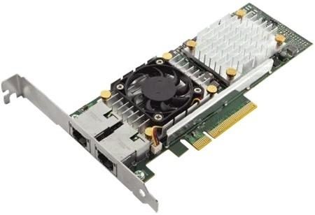 Адаптер Dell 57810 DP Broadcom 10Gb BT Converged Network Adapte Low Profile 540-11152