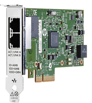 Адаптер HP Ethernet 1Gb 2P 361T Adptr 652497-B21 цена и фото