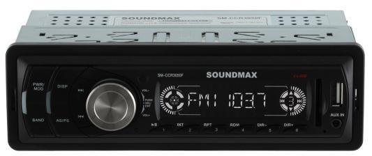 Автомагнитола Soundmax SM-CCR3050F USB MP3 FM SD MMC 1DIN 4x45Вт черный 7060b 7 inch 12v auto 2 din bluetooth tft screen car audio stereo mp3 mp4 mp5 player support aux fm usb sd mmc