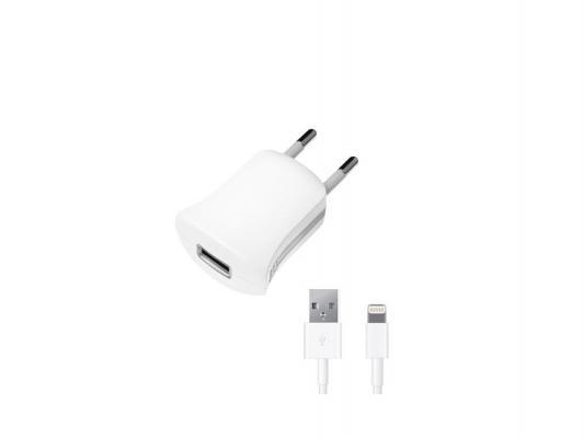 Сетевое зарядное устройство Deppa 11350 USB 8-pin Lightning 1A белый сетевое зарядное устройство deppa ultra 2 1a 2 usb дата кабель с разъемом 30 pin для apple белый
