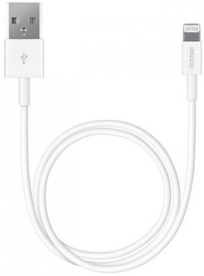 Кабель Deppa USB-8-pin для Apple 1.2м белый  72114