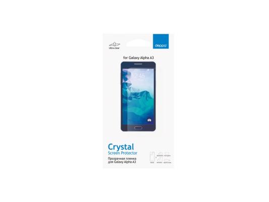 Защитная пленка Deppa для Samsung Galaxy Alpha A3 прозрачная 61364 nillkin protective matte plastic back case for samsung galaxy alpha g850f black